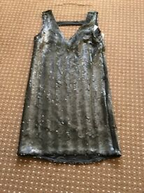 Black sequin dress size 8 £5
