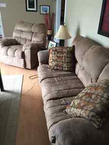 Sofa and recliner