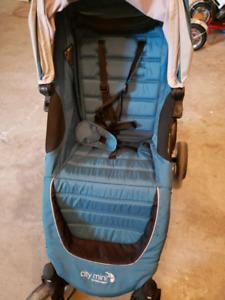 City mini stroller with glider board