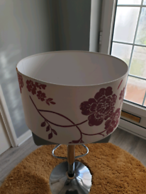 Lamp shade - Red Floral USED