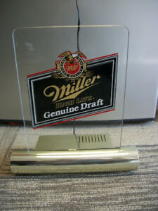 Miller Genuine Draft light up sign