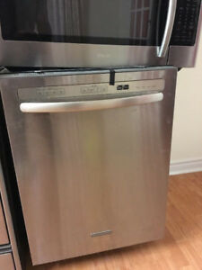 Kitchen-Aid Stainless steel in & out under counter dishwasher