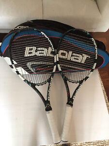 2 Raquettes de tennis Babolat Pure Drive avec Sac Babolat