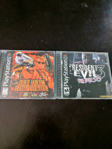 Duke nukem time to kill and res 3 ps1
