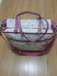 AUTHENTIC COACH SIGNATURE CHELSEA BABY TOTE BABY DIAPER BAG. #F1