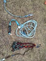 Fall arrest harness and ropes