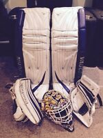 Vaughn V5 & Reebok P4 goalie equipment