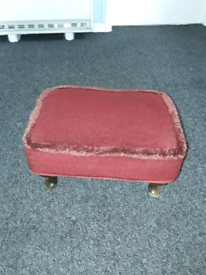 Stool red cover.