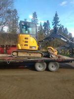 Excavator and Single Axle Dump Truck for Hire