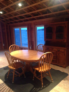 Buffet, hutch, table and 4 chairs