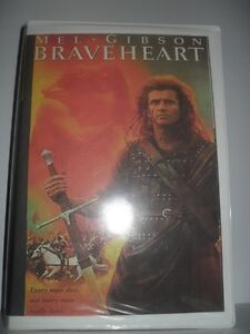 VHS Braveheart (Mel Gibson) two-video tape edition