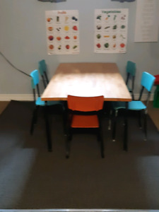 Daycare Table and Chairs