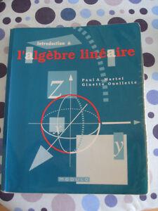 Livre Introduction à l'algèbre linéaire de Martel et Ouellette
