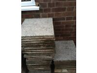 PAVING SLABS SQUARE PATIO STONES 450mm x 450mm approx 40