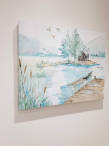 custom painting for small wall or bathroom