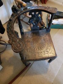 Antique 19th Century Corner Chair