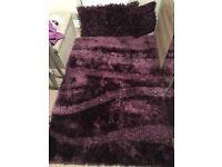 Rug & cushions aubergine
