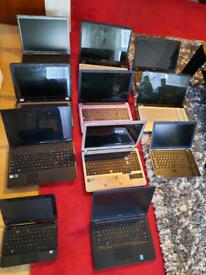 Job lots of 11 speir or repair i series and intel pentium laptops all
