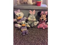 Collection of Disney toys, teddys, plush. 4 in total.