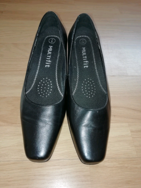 Ladies size 7 wide fitting black court shoes, used for sale  Laurencekirk, Scotland