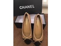 Chanel leather ballerina flats size 5.5/6