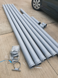 Floplast Pipe and Brackets