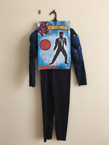 Black Spiderman muscle suit costume size 7-8