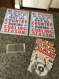 Curling-Related Items (vintage and new)...