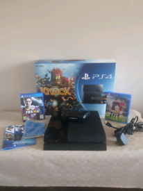 PS4 Console, Games, Original Sony Controller, All Cables