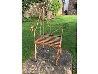 Garden metal chair , unusual design