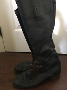 Anthropologie Tall Leather Boots - sz 40