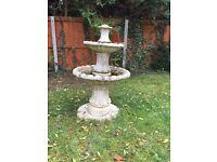 Garden water fountain with pump