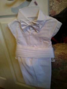 Babys white suit