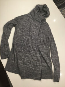 Lululemon One-Button Wrap Cardigan (Gray with Cashmere)