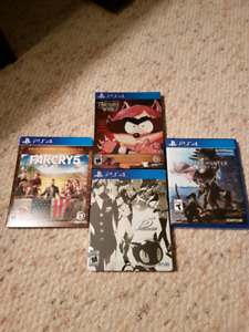 Video games persona 5, south park, monster hubter ps4