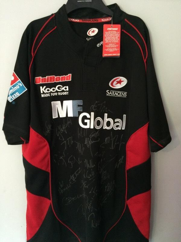 Saracens Rugby Shirt Signed Saracens Rugby Jersey