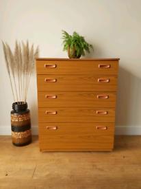 Mid century 1960's Schreiber chest of drawers