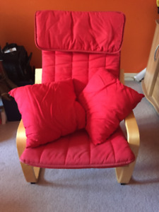 IKEA Poang Chair with Pillows