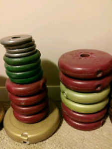Extra weight plates $60 takes lot
