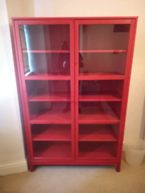 Red Glass Bookcase