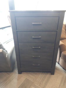 DARK CHARCOAL FINISH CHEST