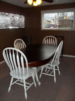 OVAL TABLE AND FOUR CHAIRS