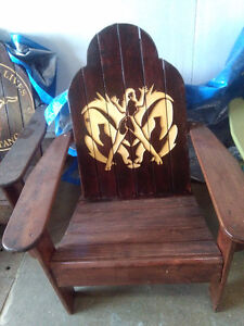 Wood working Aderondack Chairs   and    Signs