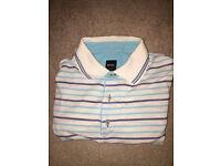Hugo Boss black- polo shirt striped. Medium slim fit £10