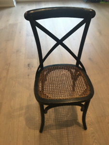 French Bistro Chairs (Black and brown) Set of 6
