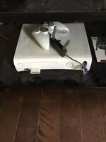 Xbox with games and headset