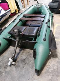 Boat outboard x2 trailer