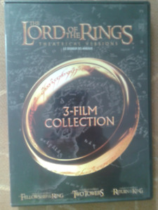 Lord of the Rings 3 Movie set DVD