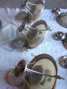 brushed pewter / brushed nickel light fixtures and chandeliers Kitchener / Waterloo Kitchener Area image 3