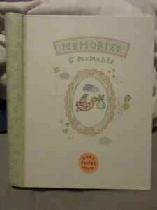 MEMORIES AND MOMENTS BABY RECORD BOOK BRAND NEW